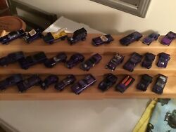 Vintage Lot Of 26 Purple Red Lines Hot Wheels Cars