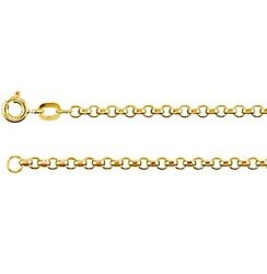Rolo Chain 14k Yellow Rose White Gold 2.0 Mm 16 18 20 24 Inch Quality Made