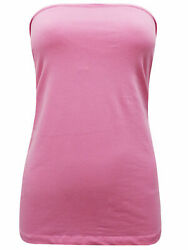NEW PINK SECRET SUPPORT BANDEAU BOOB TUBE TOP SIZE LARGE 18 20 GBP 3.99