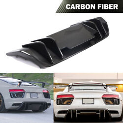 Rear Bumper Diffuser Body Kit Chin Fit For Audi R8 2-door 2016-2018 Dry Carbon