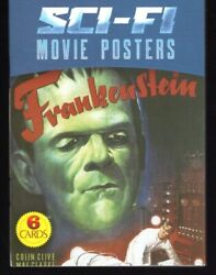 Sci-fi Movie Posters Collectible 6 Postcard Book New Frankenstein/kong/godzilla