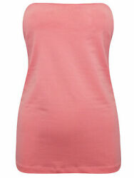 NEW SALMON PINK SECRET SUPPORT BANDEAU BOOB TUBE TOP SIZE SMALL 10 12 GBP 3.99