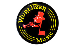 Wurlitzer Music And Jukebox Company Metal Sign Reproduction 12 Across Musician