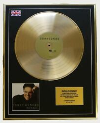 Donny Osmond/cd Gold Disc Record Limited Edition/this Is The Moment