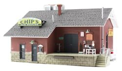 N Scale - Chip's Ice House Factory Built- Woo-br4927