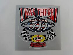 2000 Indianapolis 500 Pennzoil Event Sponsors I Was There Collector Decal Indy