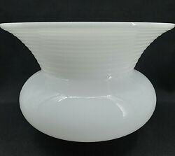 Vintage Lamp Shade Torchiere Reflector Light White Milk Glass Globe Ceiling