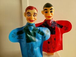 Jerry Mahoney And Knucklehead Ventriloquist Hand Puppets 1966
