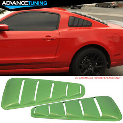 Fits 10-14 Mustang Window Louver Side Panel Oem Painted Hd Gotta Have It Green