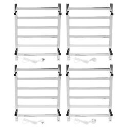 Electric Heated Clothes Dryer Airer Indoor Drying Rack Wall Mounted Towel Holder
