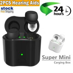 New Pair Rechargeable Hearing Aids 3 Scene Modes Program Intelligent For Adult