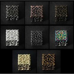 Set Of 8x D6 Endless Dice Mixed Colors - Solid Metal Dice Extra Large And Extra...