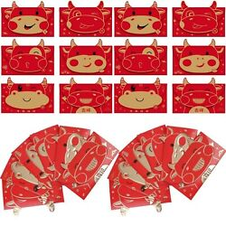 Wwmily36 Pcs Chinese Hong Bao New Year Red Envelopes Chinese Lucky Money Enve...