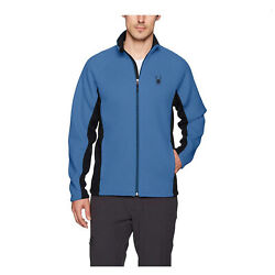 Spyder Menand039s Small Foremost Full Zip Hvy Wt Jacket Blue Black