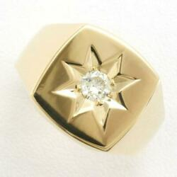 Jewelry 18k Yellow Gold Ring 22 Size Diamond Si2 About18.5g Free Shipping Used