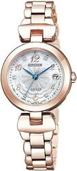 Citizen Watch Es9422-52w Exceed Eco Drive Titania Limited Women Pink Gold New