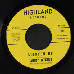 Larry Atkins Lighten Up / Ainand039t Que Amour Enough Highland Records 7 Simple