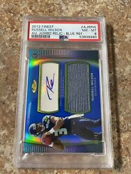 2012 Russell Wilson Finest Auto Blue Refractor Rookie Rc- Psa 8 39/99
