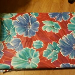 Vintage Upholstery Floral POPPIES Fabric 4 1 2 Yards x 60""