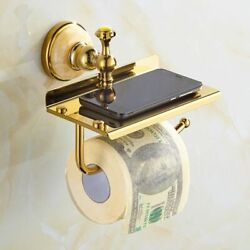 Bathroom Toilet Paper Holder Modern European Style With Phone Space Shelf Supply