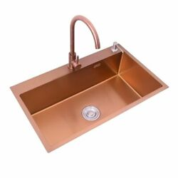Kitchen Sinks Brushed Under Counter Stainless Steel Undermount Single Bowl Tools