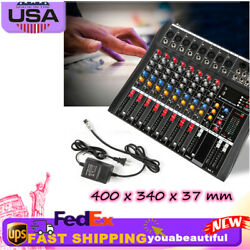Mixing Console Bluetooth Mp3 Player Digital Effect Processor W/ Us Charger