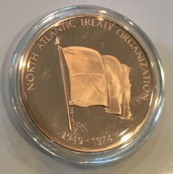 North Atlantic Treaty Organization Nato 25 Years Of Security Coin Medal