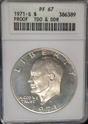 1971-s Eisenhower Dollar Proof Anacs Pr67 Tdo And Ddr Variety Superb Coin