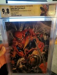 Spiderman Life Story 1 Cgc Ss 9.8 Double Signed Bagley And Kirkham