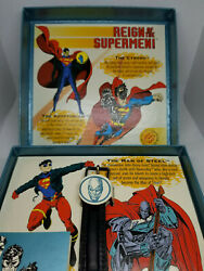 Fossil Superman Collector's Watch Limited Edition 1993 Reign Of The Supermen