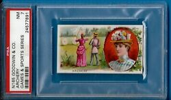1889 N165 Goodwin And Co. Games And Sports Series Archery Psa 7 High Pop