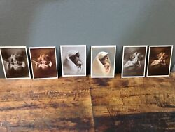 Vintage Wallet Size Cupid And Madonna Taber Prang Art Co Sepia And Color Set Of 6