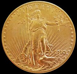 1910 D Gold United States 20 Dollar Saint Gaudens Coin Mint State