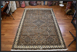 Amazing Brown Antique 7x10 Mahal-style Oriental Area Rug