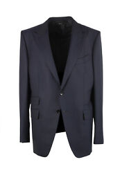 New Tom Ford Oand039connor Blue Wool Suit Size 52 It / 42r U.s.
