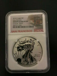 2019-s 1 Enhanced Reverse Proof Silver Eagle Ngc Pf70 - Early Releases
