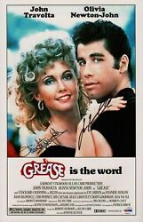 247189 Grease Is The Word Signed Movie Art Print Poster Wall