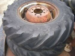 Vintage Massey Ferguson  Tractor -2 Cast Center Wh And Tires - 14.9 X 24