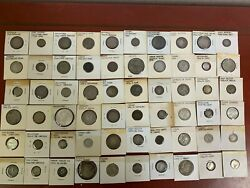 1800 And 1900and039s Foreign Silver Coins Lot Of 60 Mixed Countries See Photoand039s