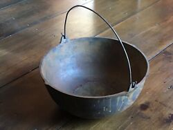 Antique Cast Iron Swivel Handled Cook Pot With Gate Mark