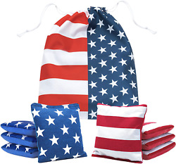 Pro Cornhole Bags Two Sided Slick And Stick Set Of 8 Regulation Two Sided Bean