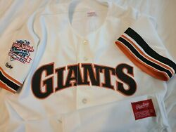 Will Clark 1989 World Series San Francisco Giants Authentic Rawlings Jersey Sz42