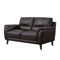 Strick And Bolton Granville Top-grain Leather Loveseat