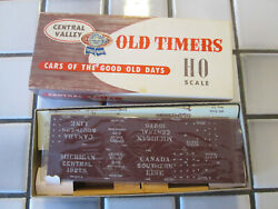 Vintage Central Valley Michigan Central Canada Sou Box Car Ho Scale Wood Kit