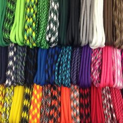 550 Paracord Kit 200 Feet With 20 Buckles 20 Different Colors 10 Ft Each Piece