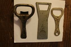 Three Old Bottle Openers Opens All White Rock And Hoffman
