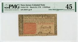 Nj-178 March 25 1776 6s New Jersey Colonial Currency Note - Pmg Ch.xf 45