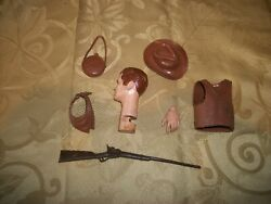 Vintage Johnny West By Louis Marx Parts And Accessories Lot