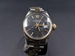 Rolex Oyster Perpetual Date With Reference 6517 In Gold And Ss Andndash Serviced