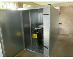 Silver Motorbike Shed - With 2 Heavy Duty Locks - Free Installation And Delivery